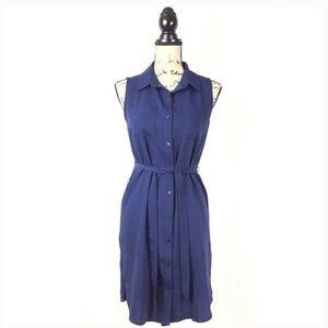 ✨ Adrienne Vittadini blue button down dress   sz 6